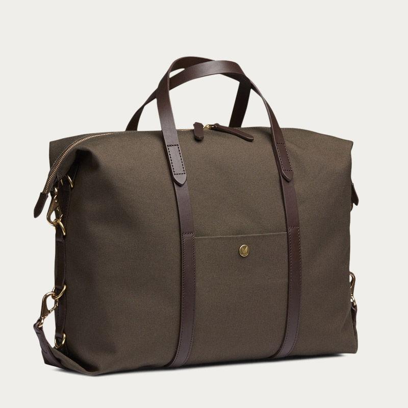 Army/Dark Brown M/S Utility Duffle Bag | Bombinate