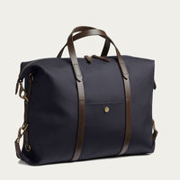 Navy/Dark Brown M/S Utility Duffle Bag | Bombinate