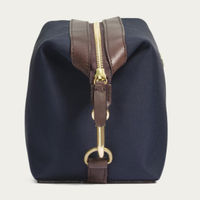 Navy/Dark Brown M/S Washbag  | Bombinate