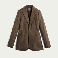 Brown Cross Weave Blazer  | Bombinate
