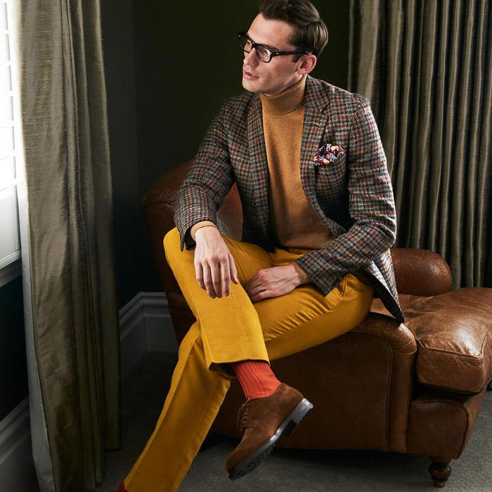 Mustard Wode Corduroy Trousers   Bombinate