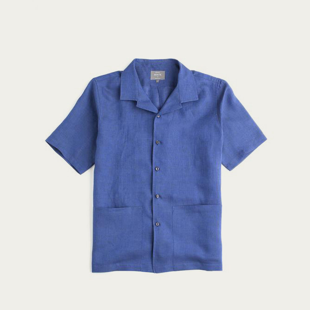 Navy Linen The Sun Shirt | Bombinate