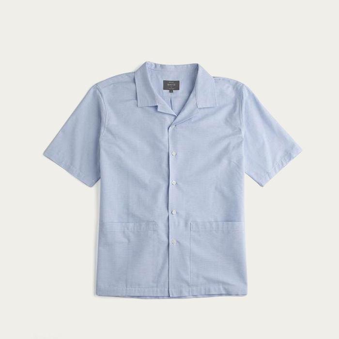 Sky Blue Linen The Sun Shirt   Bombinate