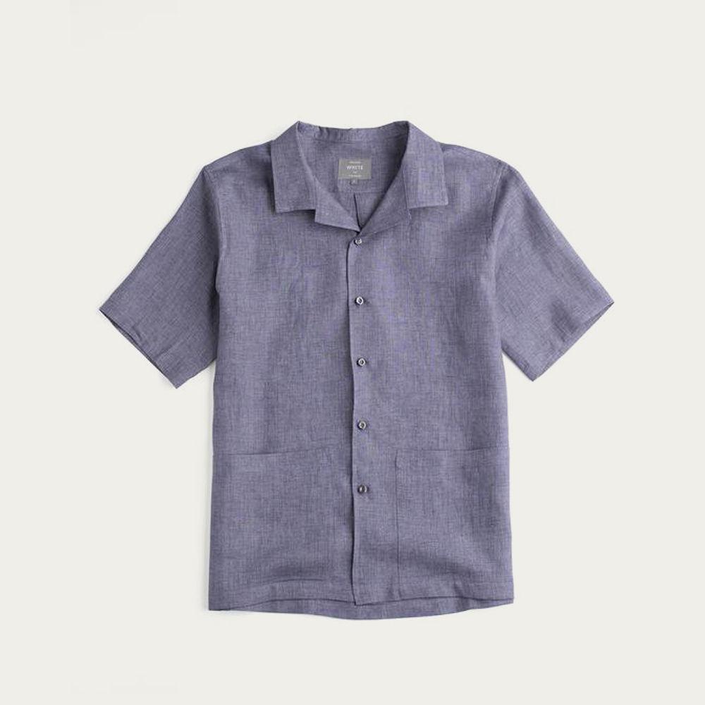 Storm Grey Linen The Sun Shirt   Bombinate