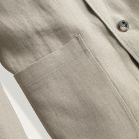 Oat Linen Shacket  | Bombinate
