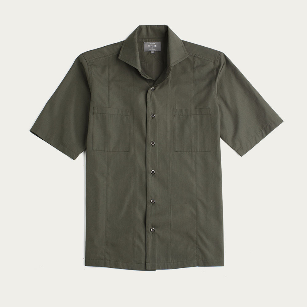 Green Tropical Weave Overshirt  | Bombinate