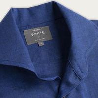 Blue Linen Maxwell SS Cutaway Shirt    Bombinate