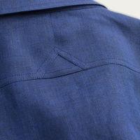 Blue Linen Maxwell SS Cutaway Shirt  | Bombinate