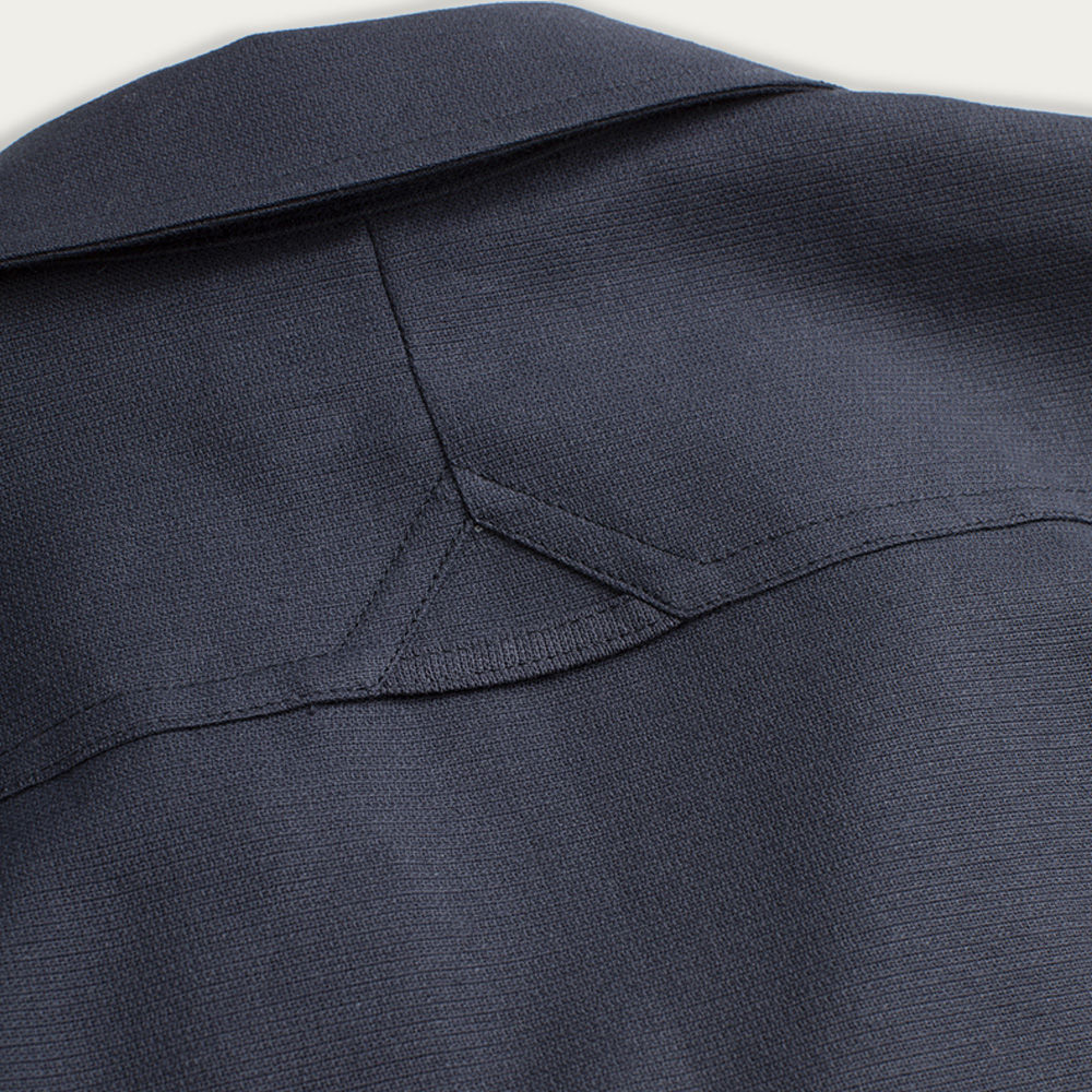 Navy Tropical Weave Overshirt  | Bombinate