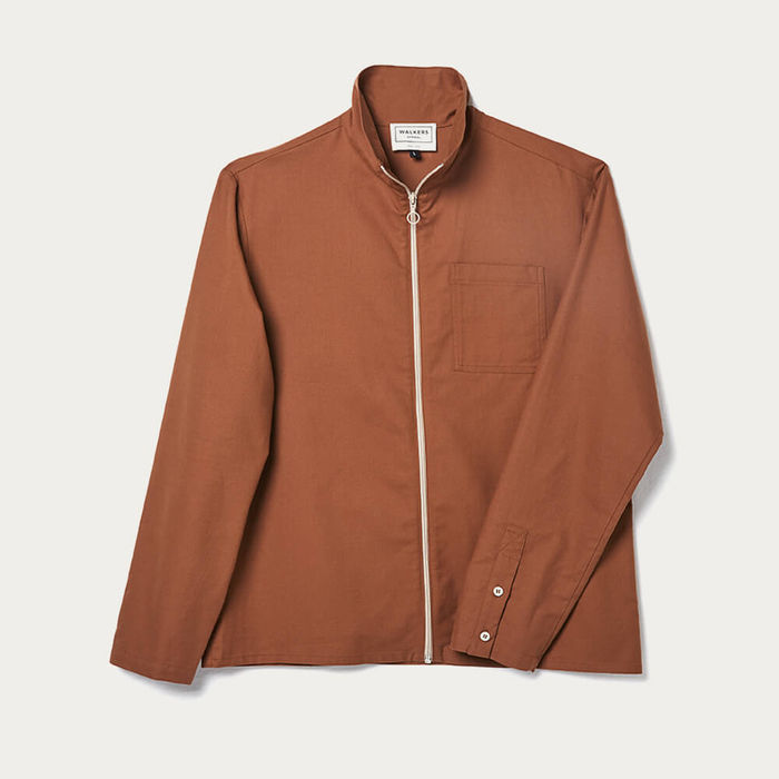 Dark Orange Bill Jacket | Bombinate