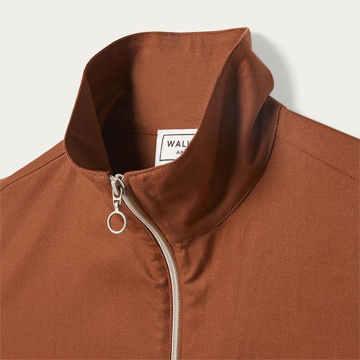 Dark Orange Bill Jacket   Bombinate