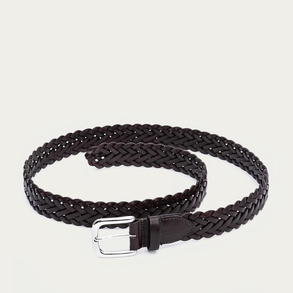 Brown Leanoardo Hand-Braided Leather Belt    Bombinate