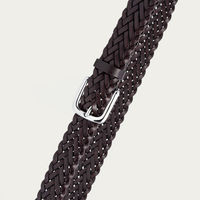 Brown Leanoardo Hand-Braided Leather Belt  | Bombinate