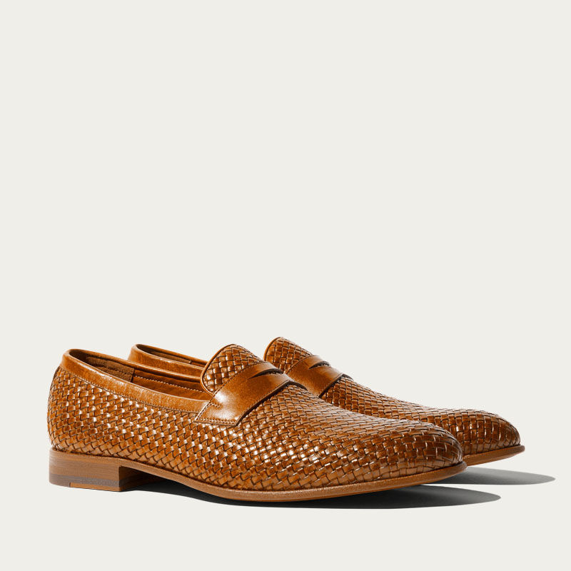 Andrea Cognac Loafers | Bombinate