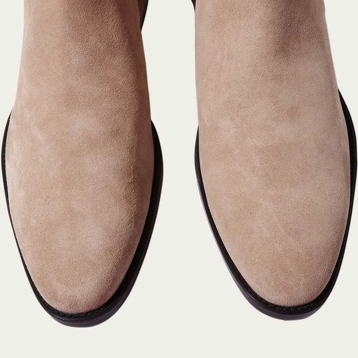 Giacomo Beige Chelsea Boots | Bombinate