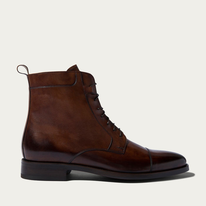 Dark Brown Calf Totò Ebano Boots | Bombinate