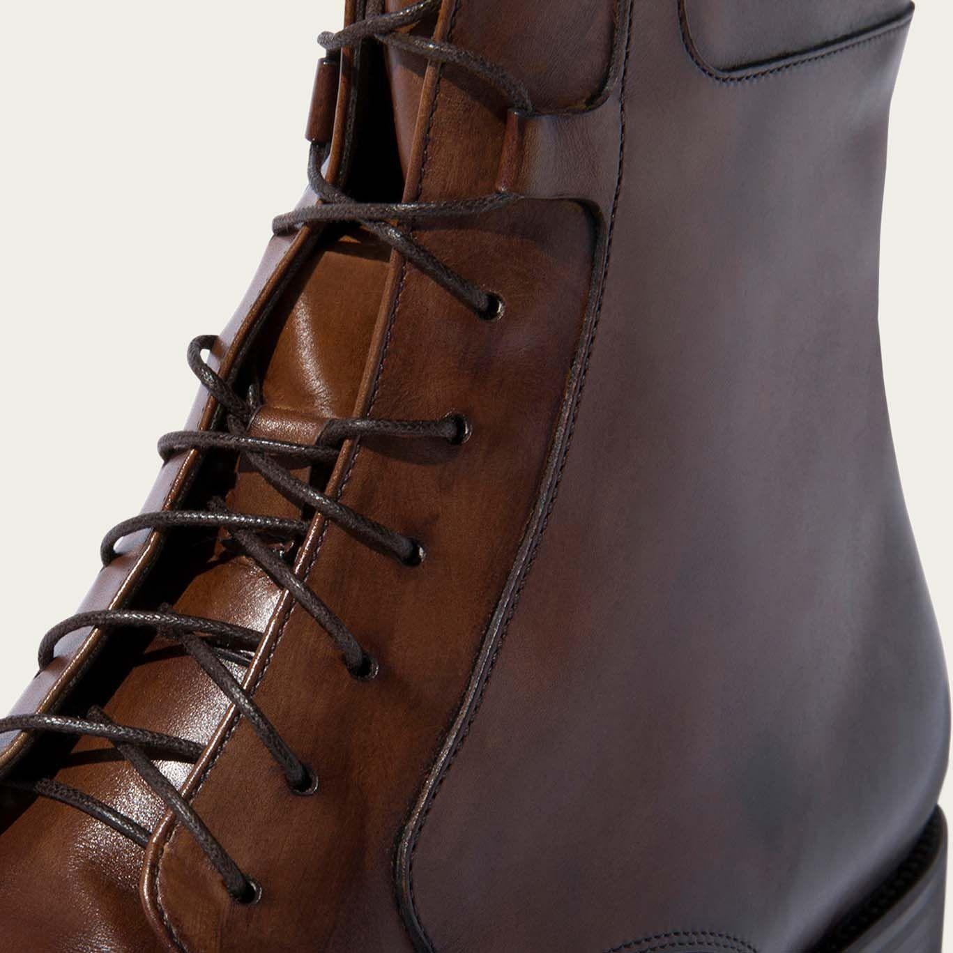 Totò Castagno Lace Up Boots | Bombinate