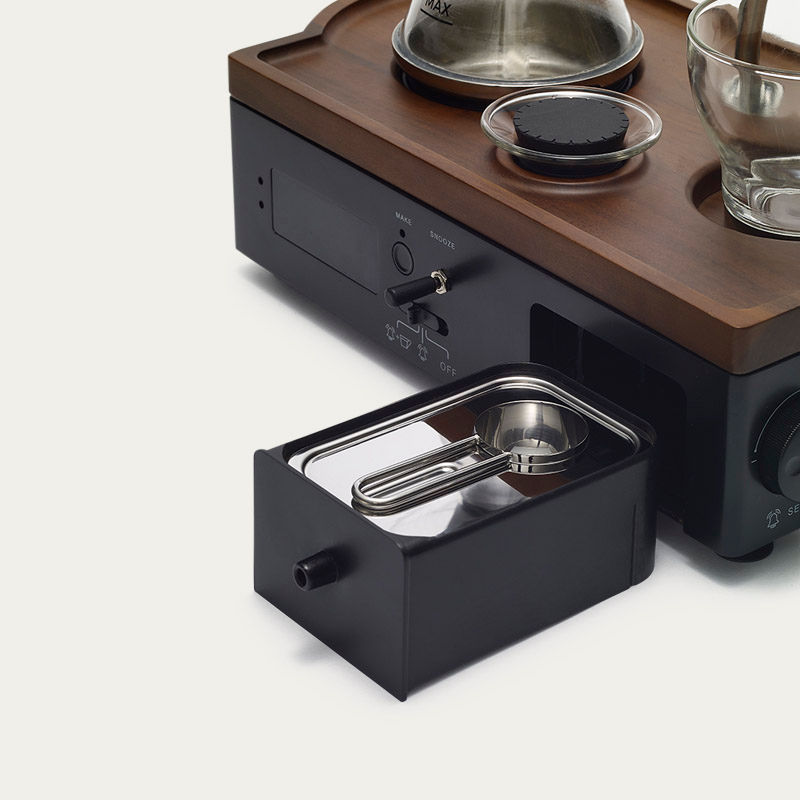 Black Barisieur Coffee Alarm Clock    Bombinate