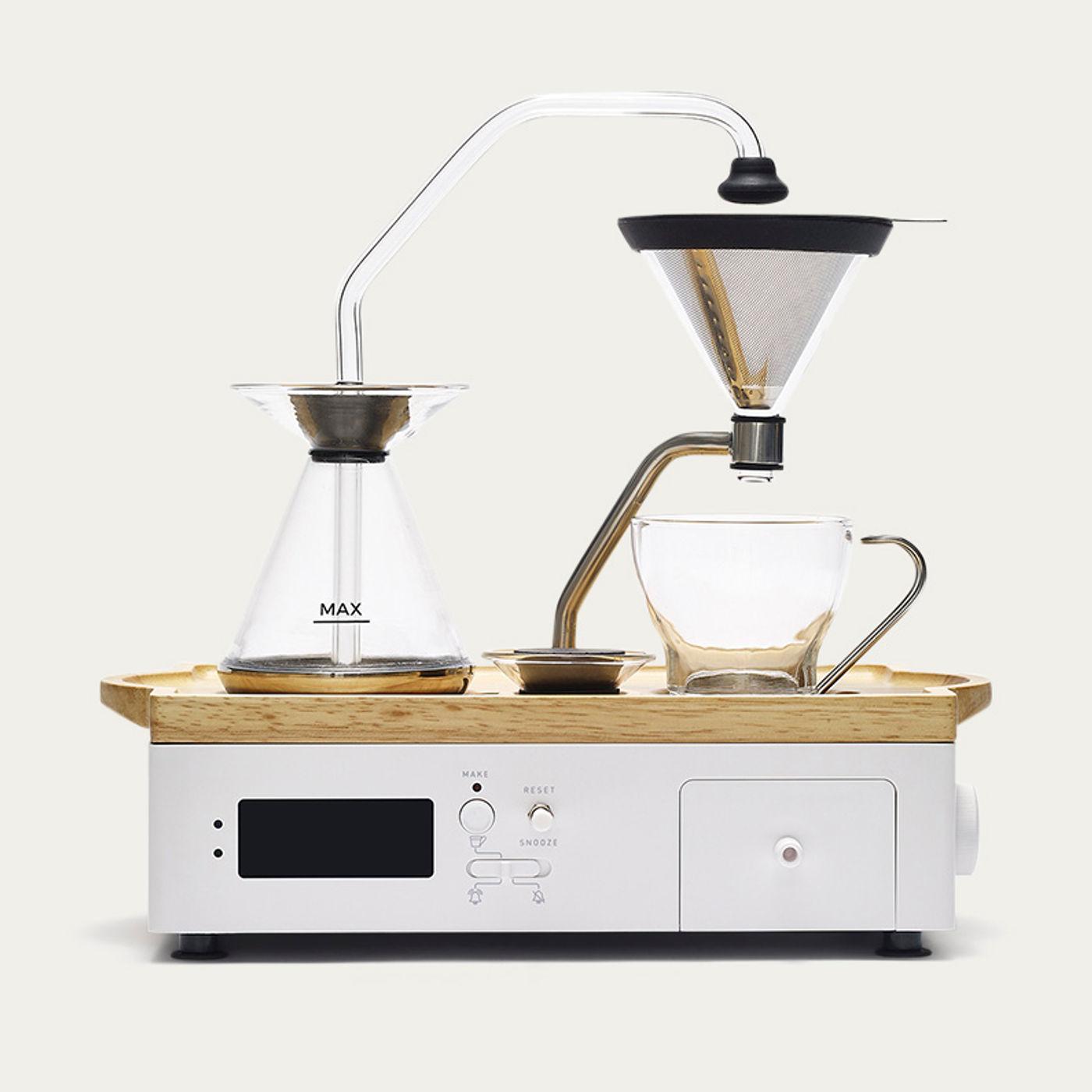 White Barisieur Coffee Alarm Clock | Bombinate