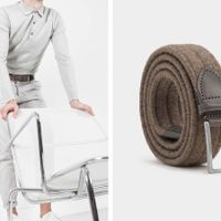 Brown Antonio Elastic Braided Wool Belt  | Bombinate