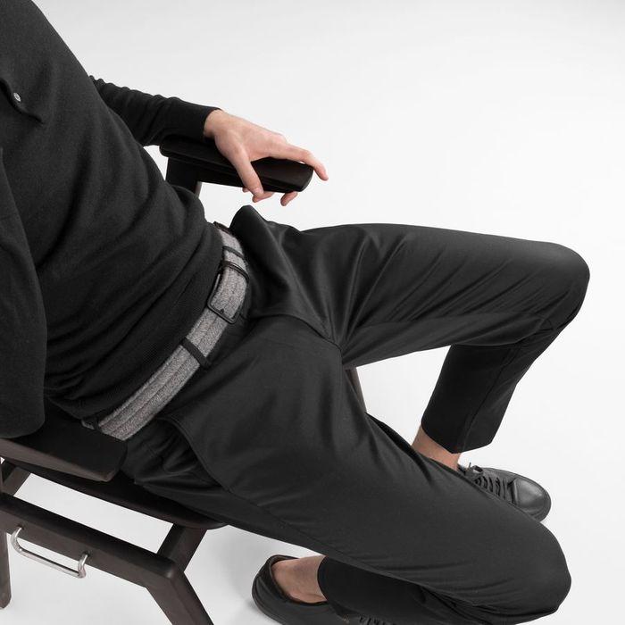 Grey/Black Alessandro Elastic Braided Wool Belt  | Bombinate