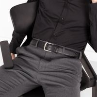 Black Fernando Handmade Leather Belt  | Bombinate