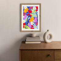 Garden At My Window Art Print Oak Frame | Bombinate