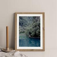 The Path Under Trees Art Print Oak Frame | Bombinate