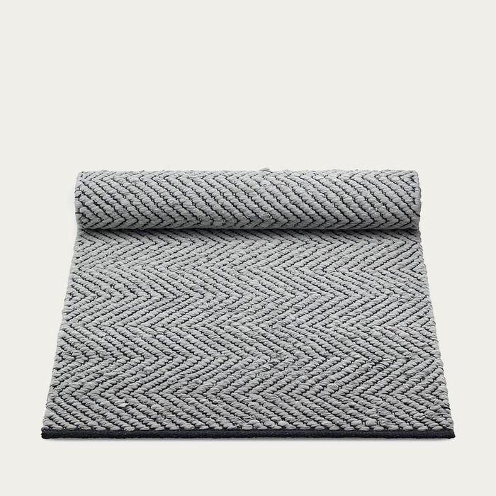 Grey/Black Cotton Rug | Bombinate