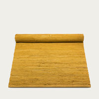 Burnished Amber Cotton Rug | Bombinate
