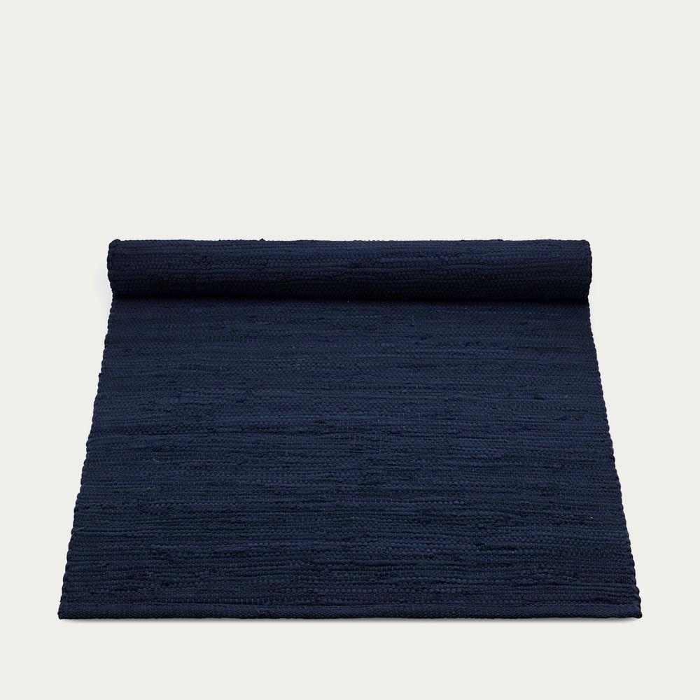 Deep Ocean Blue Cotton Rug | Bombinate