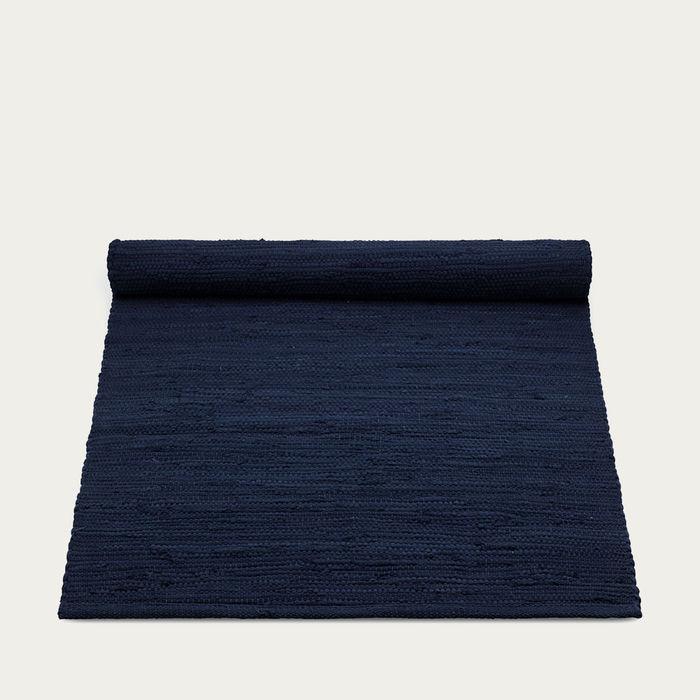 Deep Ocean Blue Cotton Rug   Bombinate