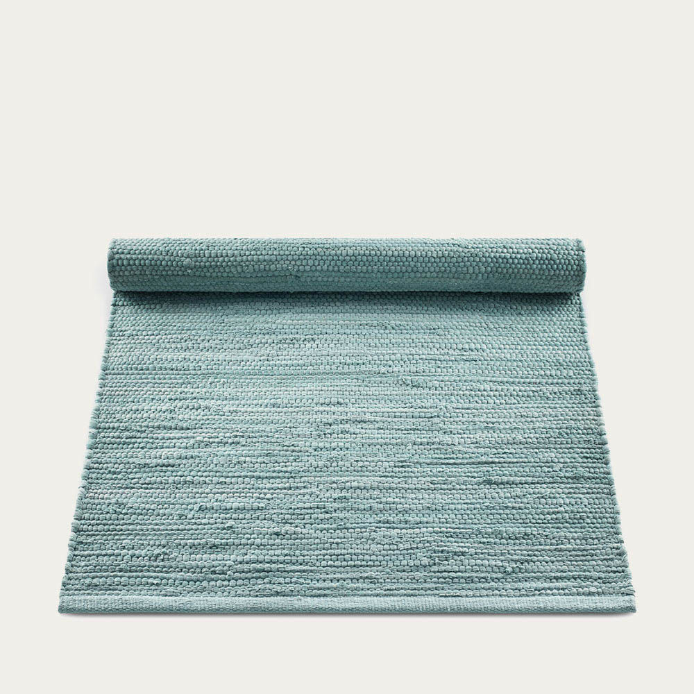 Dusty Jade Cotton Rug | Bombinate