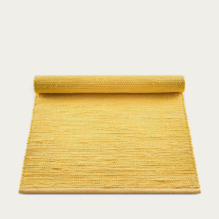 Raincoat Yellow Cotton Rug | Bombinate