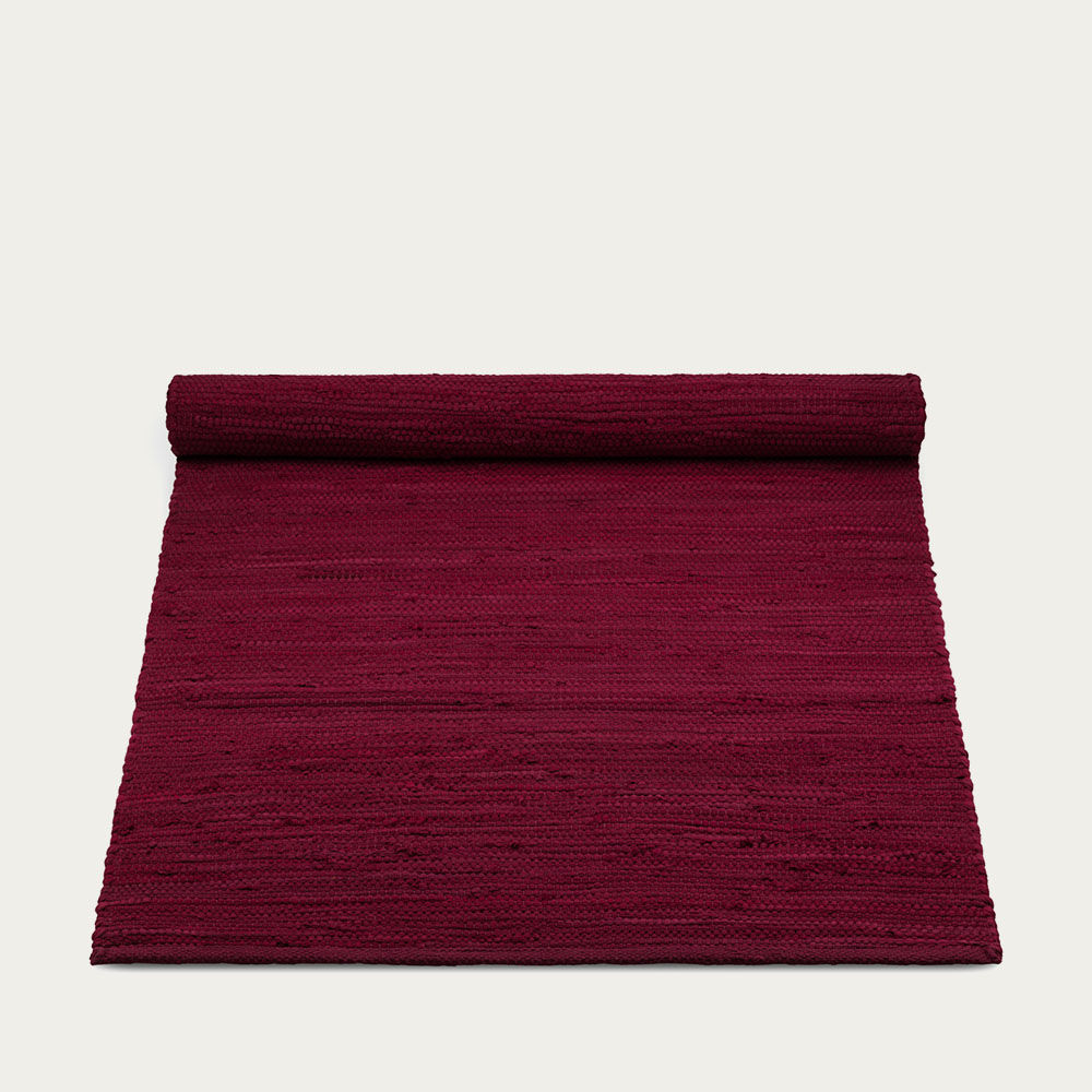 Rosewood Red Cotton Rug | Bombinate