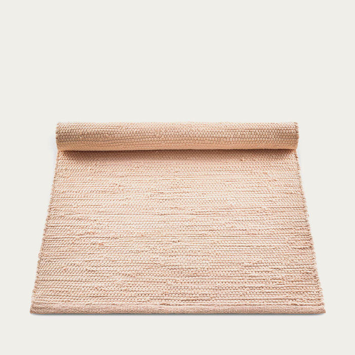 Soft Peach Cotton Rug | Bombinate