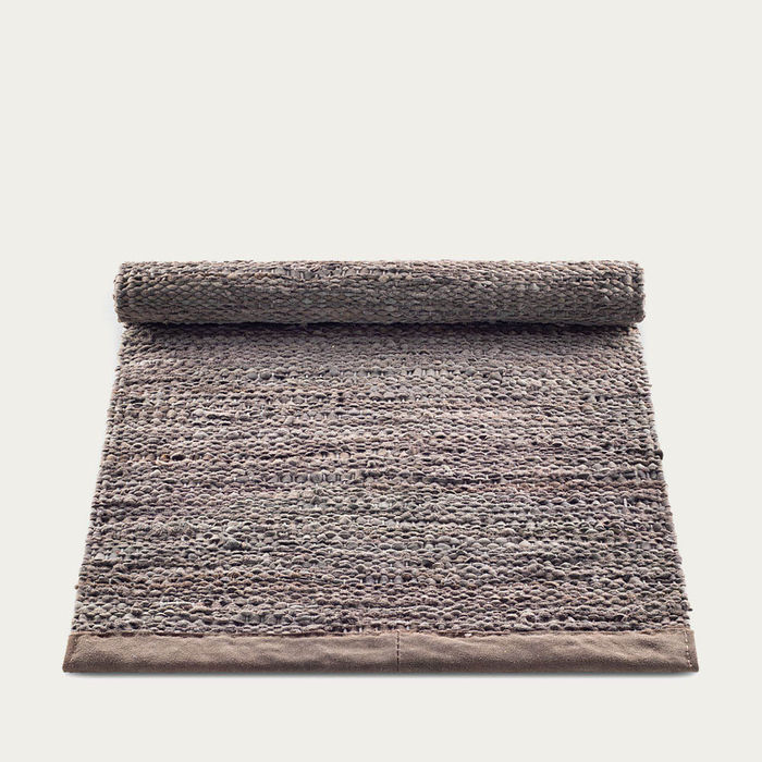 Wood Leather Rug   | Bombinate