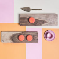 Cold Walnut + Limestone Low Oste Serving Pieces Longy | Bombinate