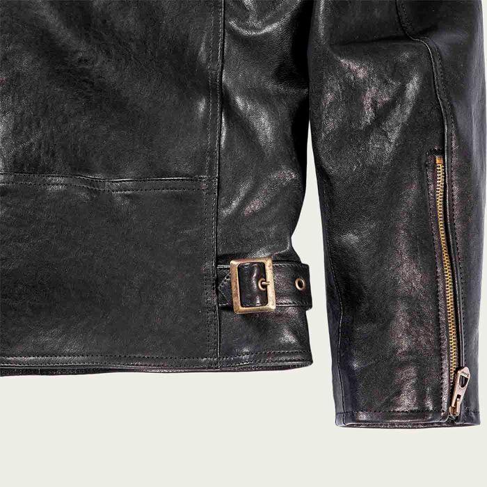 Café Racer Black Leather Jacket | Bombinate