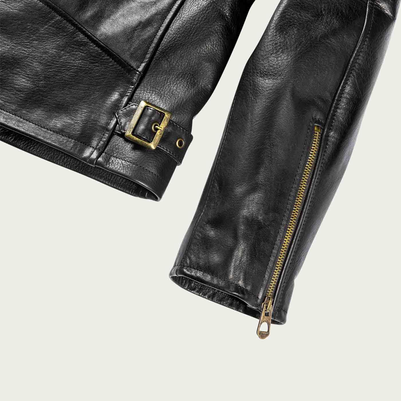 Varenne Black Leather Jacket | Bombinate