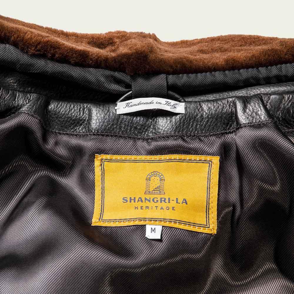 Varenne Fur Collar Black Leather Jacket | Bombinate