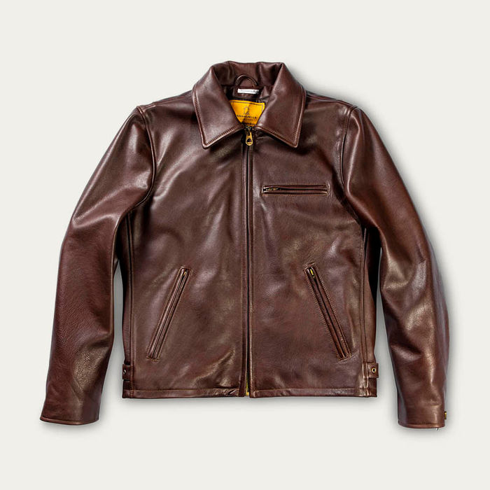 Varenne Brown Leather Jacket | Bombinate