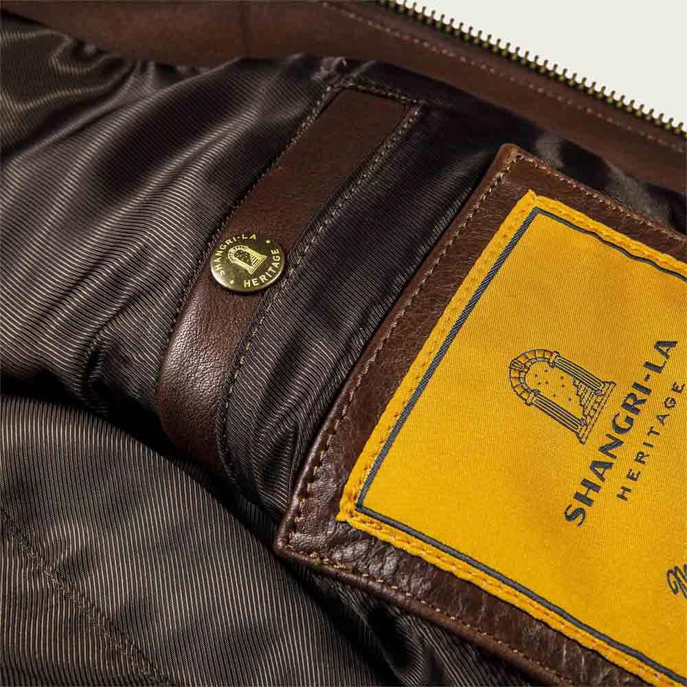 Varenne Brown Leather Jacket | Bombinate