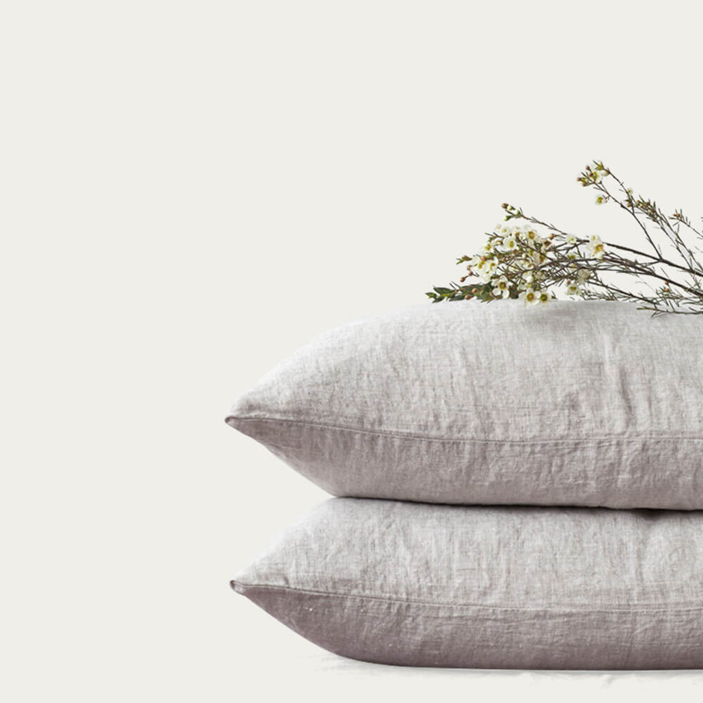 Melange Washed Linen Pillow Case | Bombinate