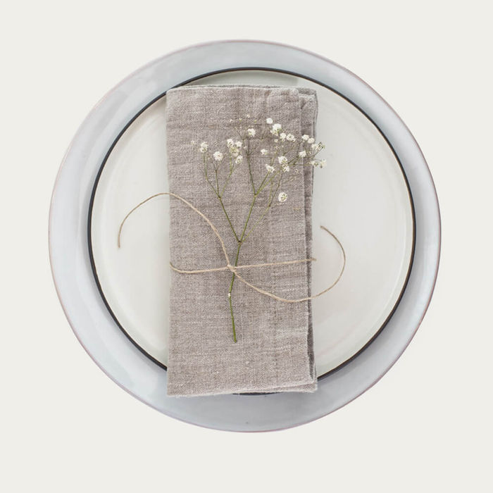 Natural Set Of 2 Linen Napkins | Bombinate