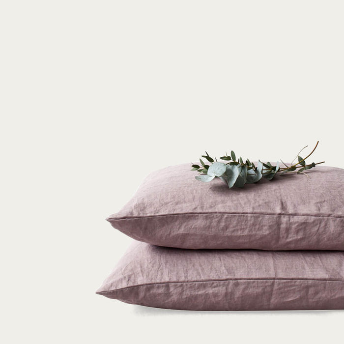 Ashes of Roses Washed Linen Pillow Case | Bombinate