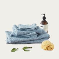 Dusty Blue Linen Waffle Towel | Bombinate