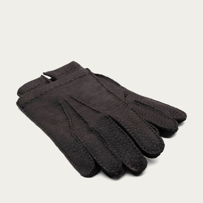 Brown Gianni Handmade Carpincho Leather Gloves | Bombinate
