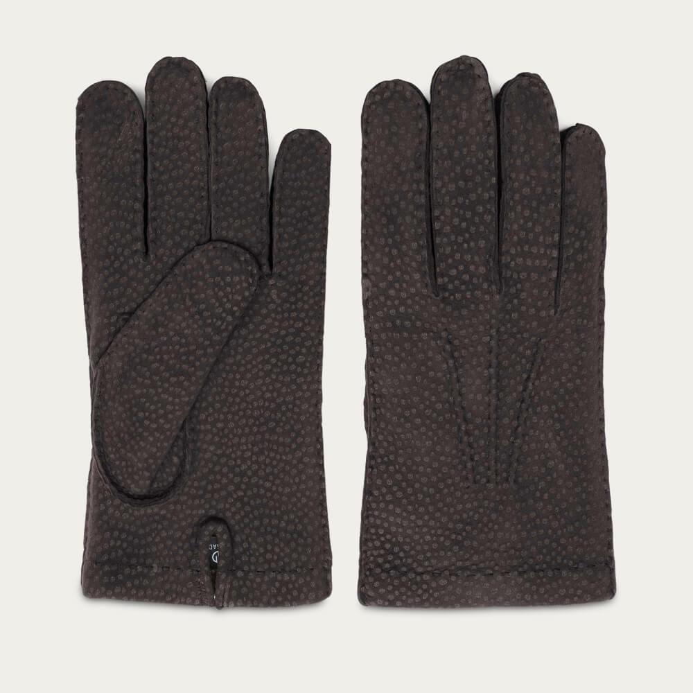 Brown Gianni Handmade Carpincho Leather Gloves | Bombinate
