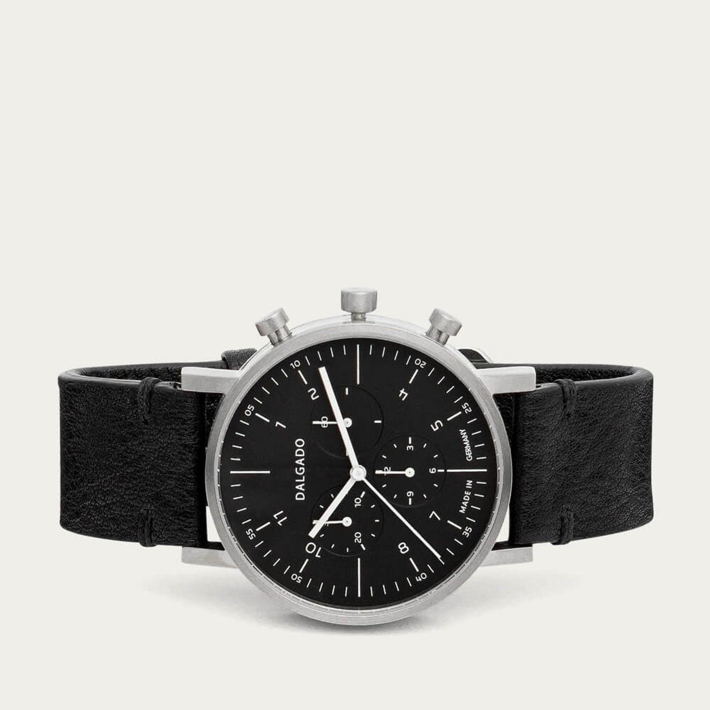 Black Marco Cronograph Watch | Bombinate